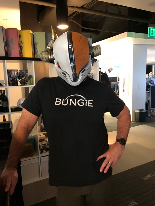 Looking forward to helping the team raise money for charity on the @GuardianCon stream. My costume fitting was a success! <br>http://pic.twitter.com/2ptbuKOt4P