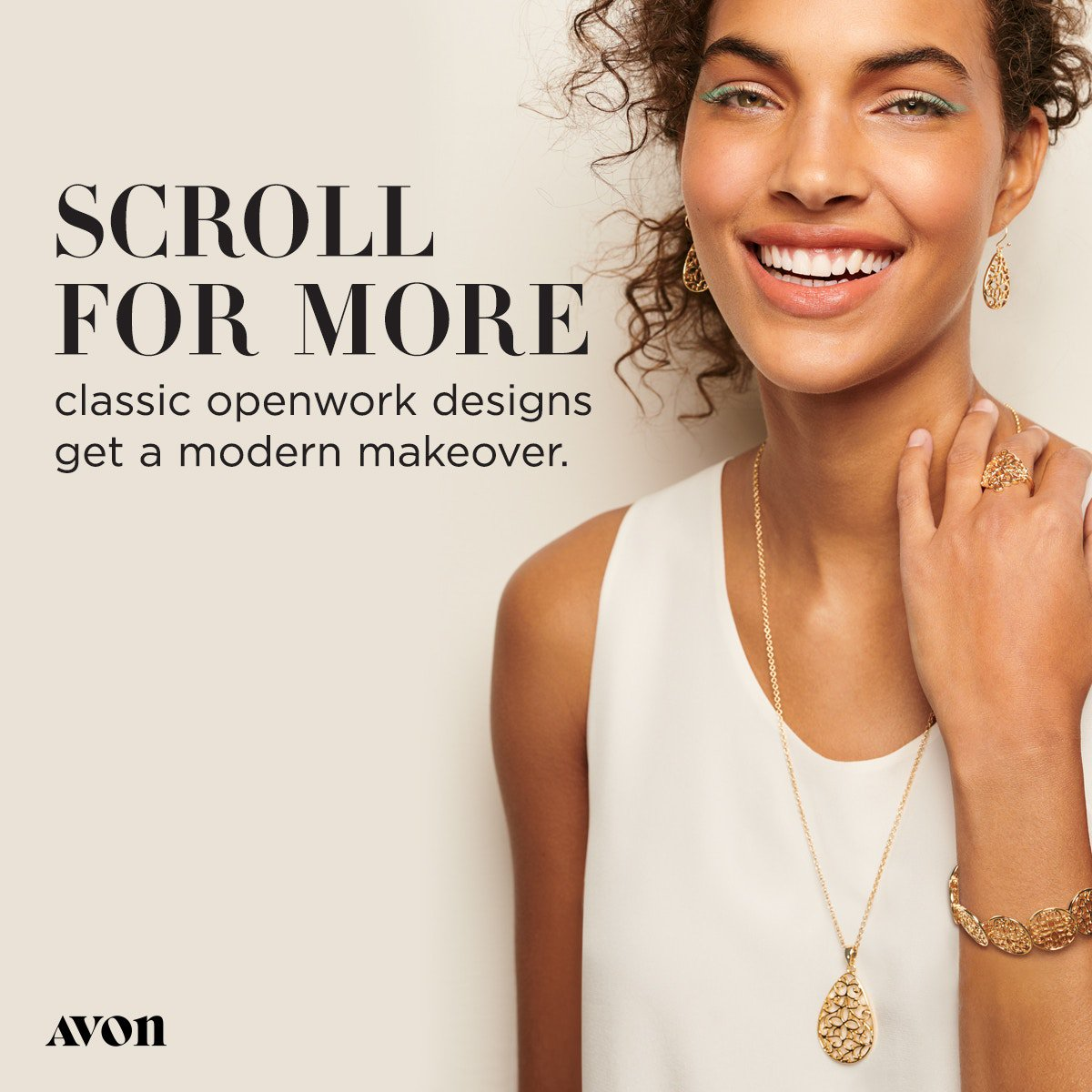 Our filigree jewelry set features a classic ornamental design. #Wednesday #WednesdayWisdom #HumpDay #Gold #Summer #Vacation #Beach #Pool #Beauty #Love #Hot #New #Classic #Sun #Atlanta #Georgia #Fashion #Jewelry SHOP: http://go.youravon.com/3dt75x BECOME A REP: http://go.youravon.com/3dt75w