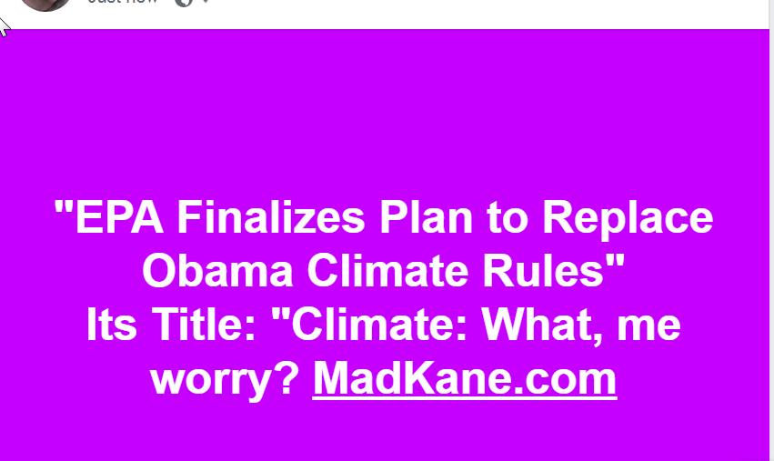 Trump v. Climate