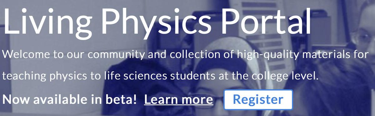 The Living Physics Portal is open for you to share your introductory physics for life sciences (IPLS) teaching materials with other educators nationwide and get feedback on them. Register as a beta users at https://t.co/ABWmqSXTMQ. https://t.co/fmQ0REEPC4