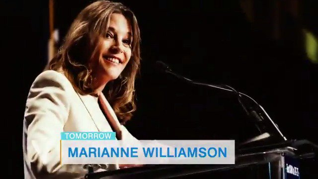 TOMORROW: Democratic presidential candidate @marwilliamson joins the #HotTopics table to discuss her 2020 run.