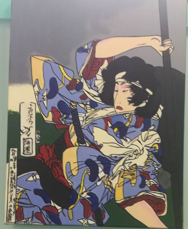 Dernière peinture terminé ! Prochain projet un tableau pop art - retrouvez moi sur instagram : nightloveart_paintings #japan #japanese #art #acrylicpaintings #nofilter #painting