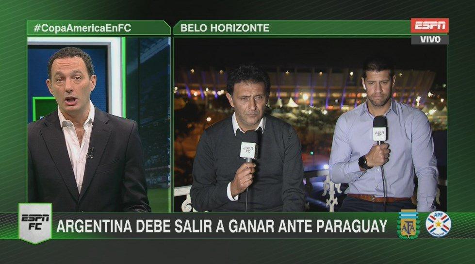 #CopaAméricaEnFC Ya estamos en vivo desde el Mineirao con toda la previa del partido entre Argentina y Paraguay. ¡Sumate a #ESPN!