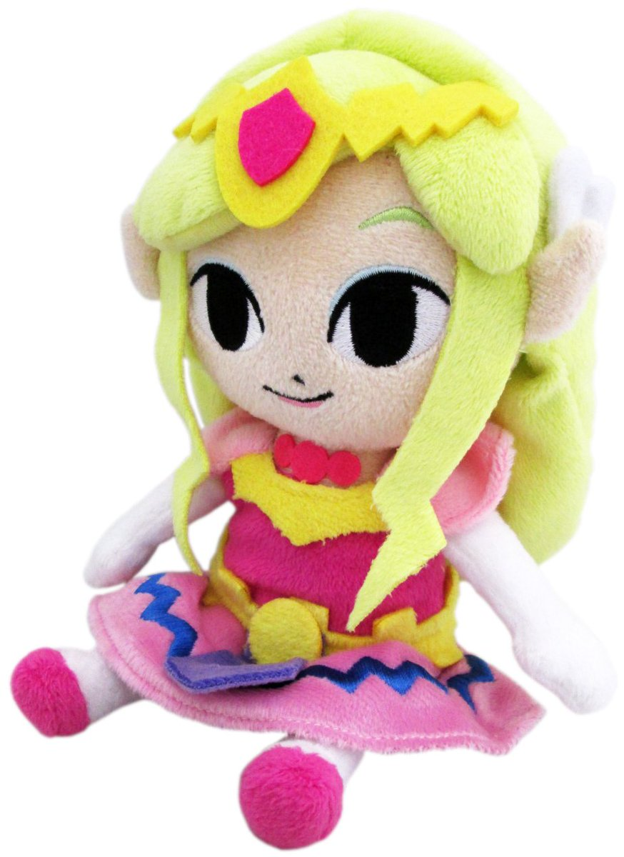 """The Legend of Zelda: Wind Waker Princess Zelda 8"""" Plush is available for $11.88 on Amazon.  https:// amzn.to/2MXEsWC    <br>http://pic.twitter.com/zNGBHwACeT"""