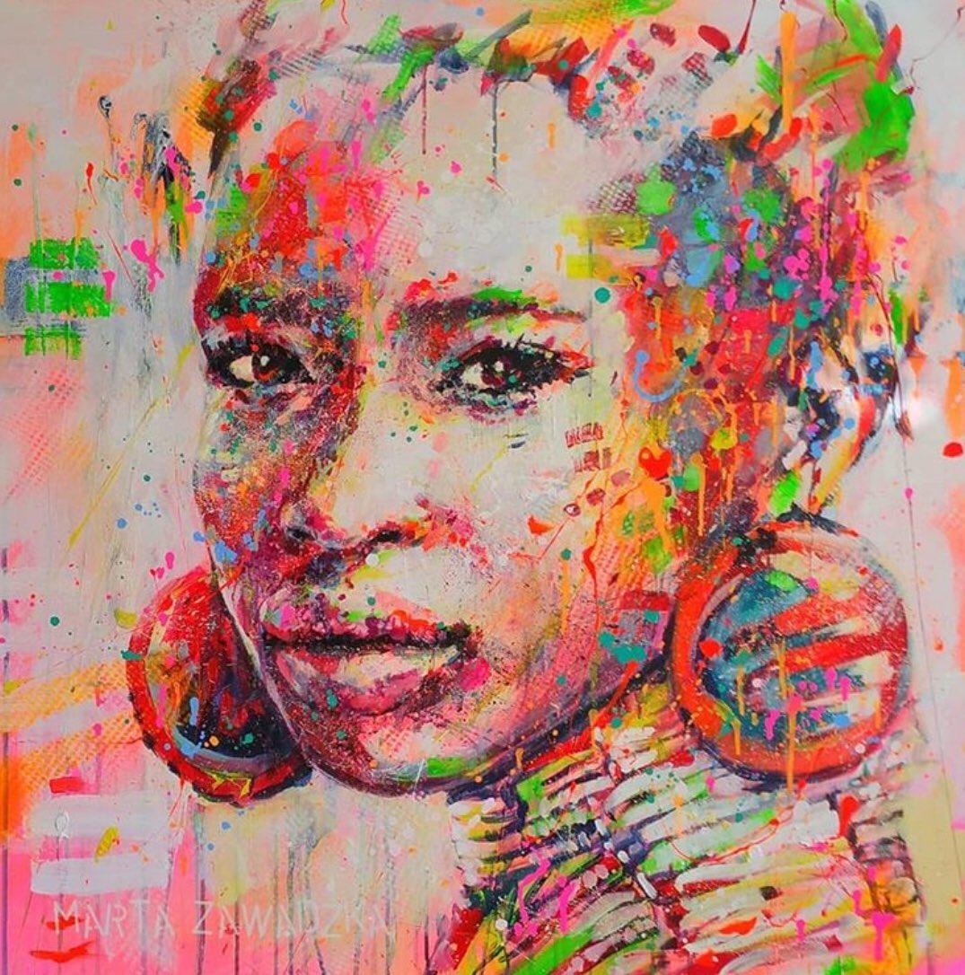 "..  ""her face"" #StreetArt #Portrait  Marta Zawadzka Warsaw Poland 🇵🇱 #eyaMartaZawadzka  http://martagallery.com"
