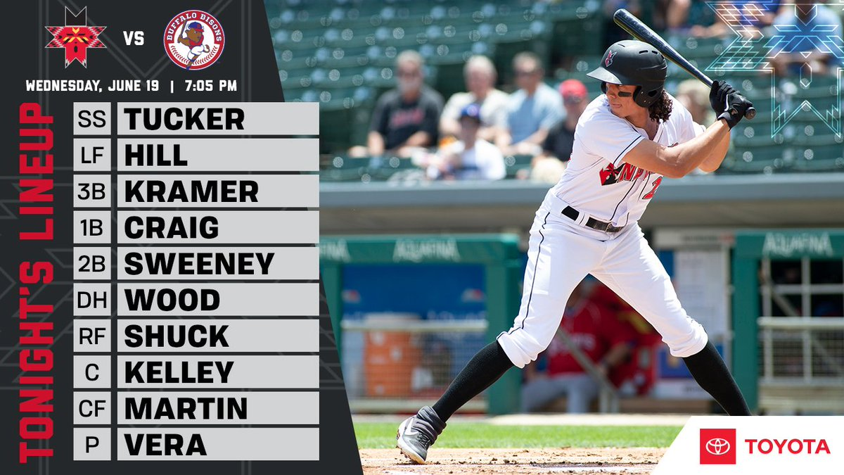 Looking to roll to 2-0 on the trip tonight in Buffalo! ⏰: 7:05 p.m. 📻: Fox Sports 97.5 / AM 1260 / iHeart App 📺: MiLB.TV 📓: bit.ly/61919Notes #RollTribe