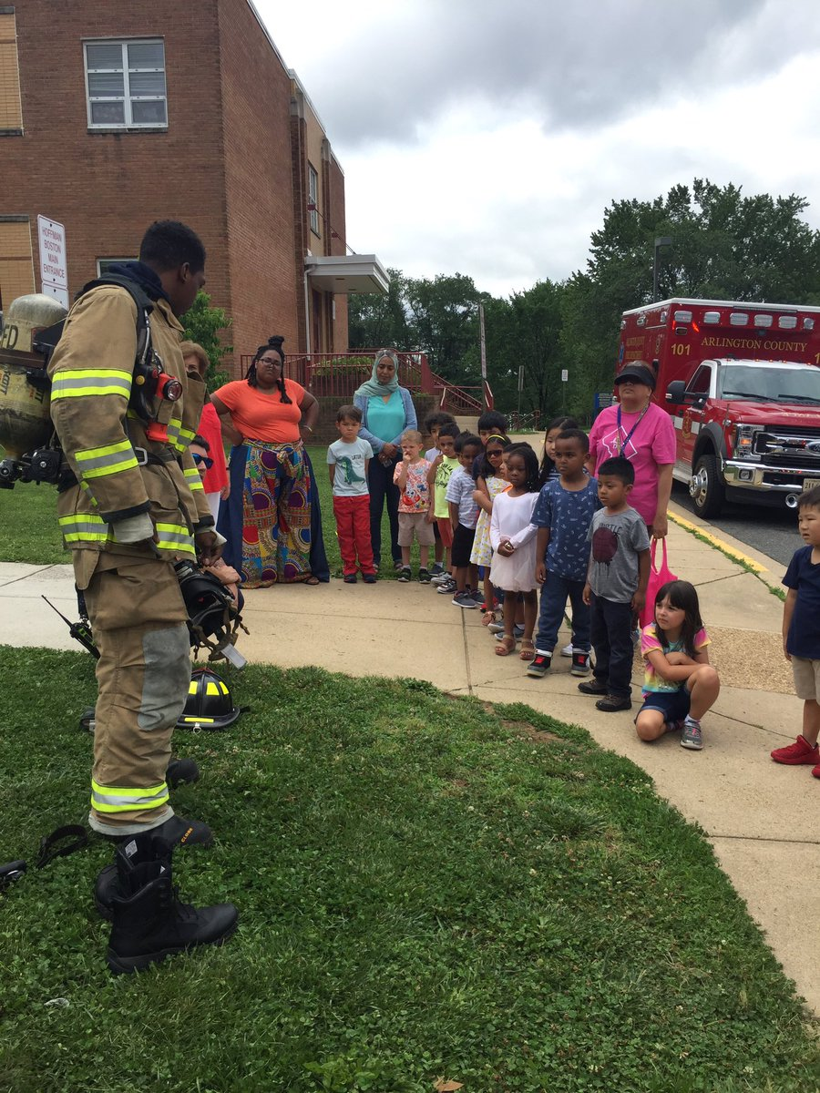 Career day was a blast! Thank you to Fire Station 1 for teaching us about fire safety 🔥<a target='_blank' href='http://twitter.com/ArlingtonVaFD'>@ArlingtonVaFD</a> <a target='_blank' href='http://twitter.com/APS_EarlyChild'>@APS_EarlyChild</a> <a target='_blank' href='http://twitter.com/HFBAllStars'>@HFBAllStars</a> <a target='_blank' href='http://search.twitter.com/search?q=HFBTweets'><a target='_blank' href='https://twitter.com/hashtag/HFBTweets?src=hash'>#HFBTweets</a></a> <a target='_blank' href='http://search.twitter.com/search?q=APSisAwesome'><a target='_blank' href='https://twitter.com/hashtag/APSisAwesome?src=hash'>#APSisAwesome</a></a> <a target='_blank' href='https://t.co/w2GBPx1XYJ'>https://t.co/w2GBPx1XYJ</a>