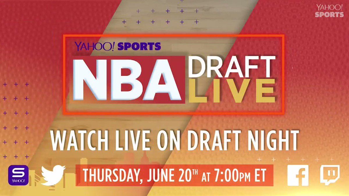 NBA offseason >>> everything 🙌  Make sure to watch our LIVE #NBADraft show TONIGHT on the Yahoo Sports app ➡️ http://yhoo.it/2LeP2Hr