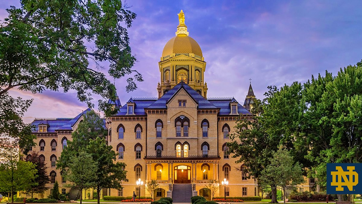 """If you could bottle the Notre Dame spirit, it would light up the universe"" – Joe Theisman #GoIrish ☘️"