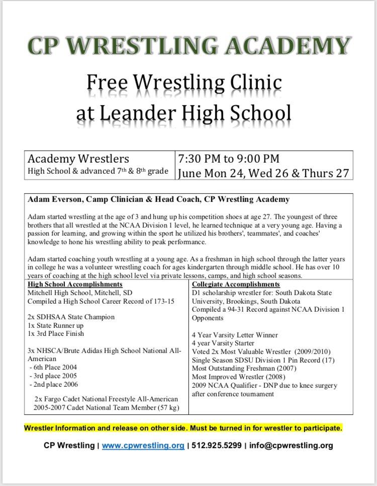 Leander Wrestling (@LLionWrestling) | Twitter