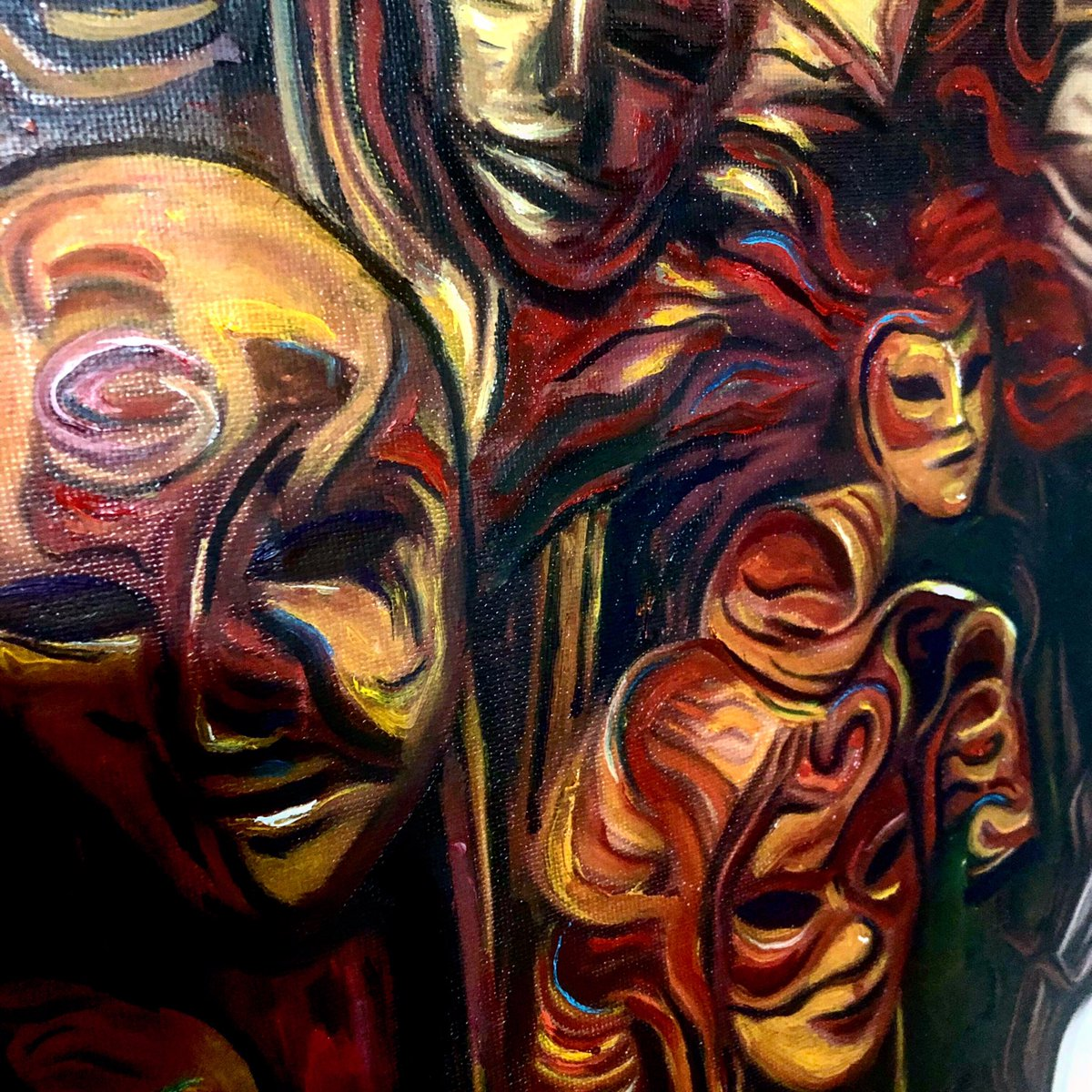 Humantropía ... detalles II... #perrisco #inspiration #oilpainting #oiloncanvas #everythingstartedwithanapple #arte #streetart #contemporaryart #modernart #figurativeart #artist #artgallery #pintura #oldhollandcolours #payaso #humantropia #design #designinspiration
