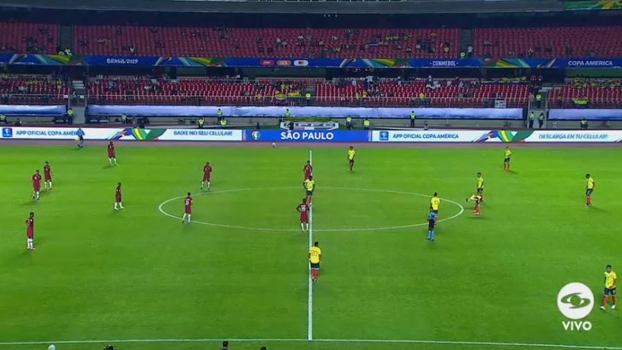 #VamosColombia, vamos por ese primer gol. Comienza el segundo tiempo entre Colombia y Catar. Seguimos igualados 0-0: http://bit.ly/2WJ3RTA