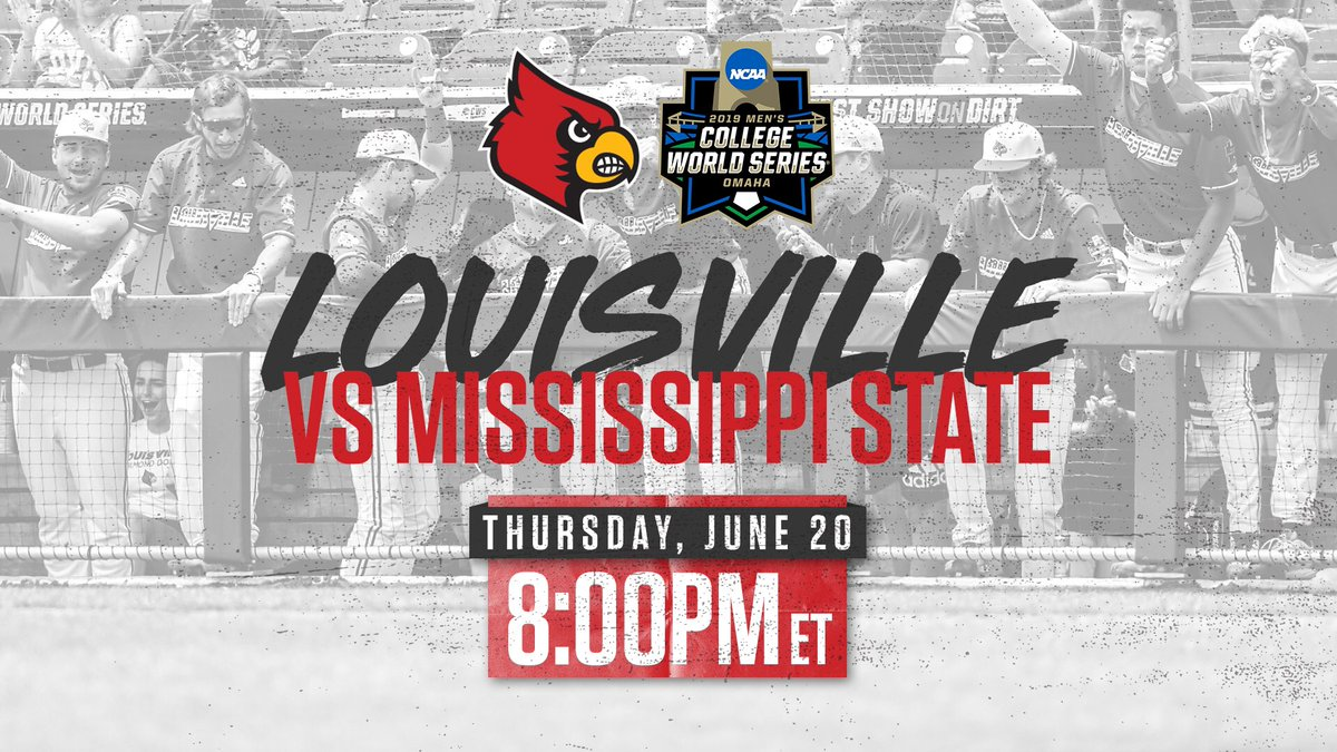 RT @LouisvilleBSB: Next Up ➡️ Cards vs. Dawgs  Thursday night in primetime.  #CWS | #L1C4 https://t.co/SN8yVIwdFJ
