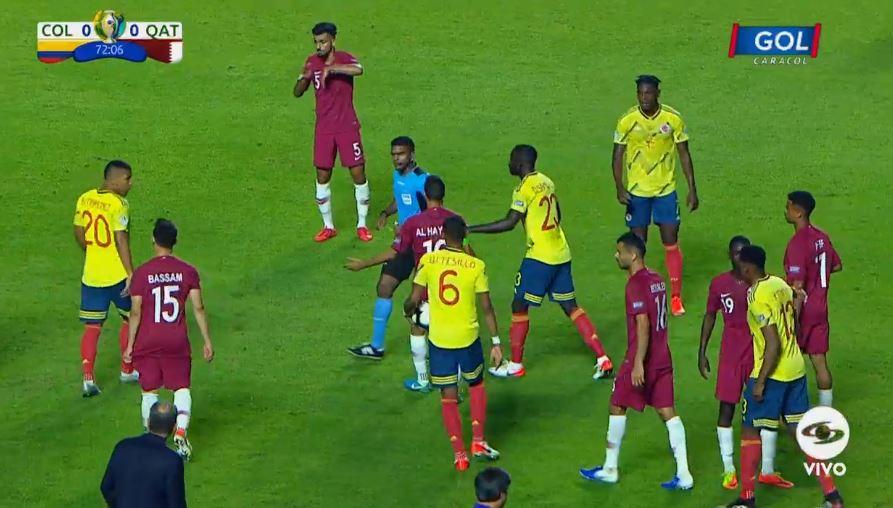 Una fuerte entrada sobre James desató la polémica entre Colombia y Catar: http://bit.ly/2WJ3RTA#VamosColombia