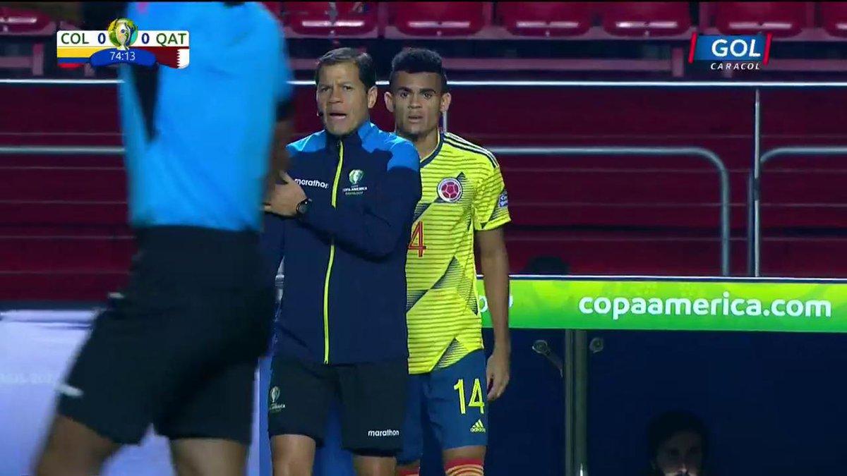 #VamosColombia Cambio 'tricolor': ingresó Luis Díaz en lugar de Roger Martínez https://copaamericaenvivo.gol.caracoltv.com/
