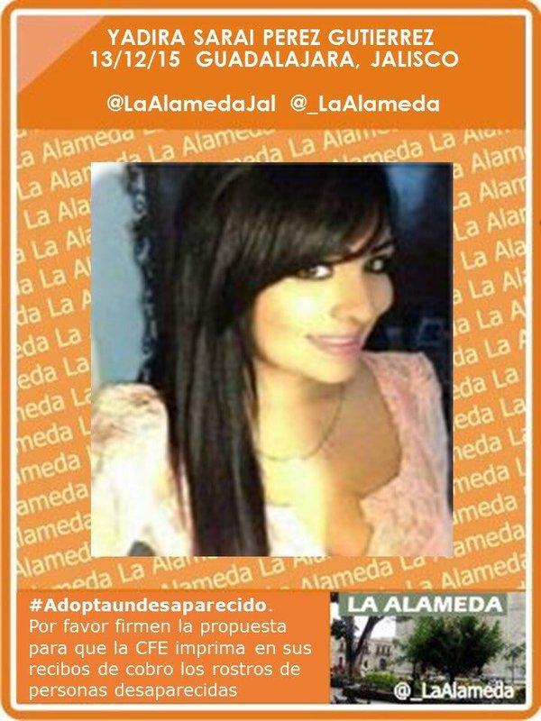 #TeBuscamos Yadira Sarai Pérez Gutiérrez. Guadalajara, Jalisco #Guadalajara #EdoMex