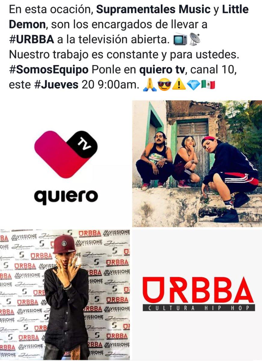 Ya es mañana señores para que le prendan a su tele a las 9:00a.m.  No se lo pueden perder puro talento URBBA, culturahiphop (local) de gdl haciendo que el rap y la cultura se eleven!!!! 🔥💪😈 #realife #vidareal #hiphopmexicano #hiphop #rap #rapmexicano #televison #guadalajara