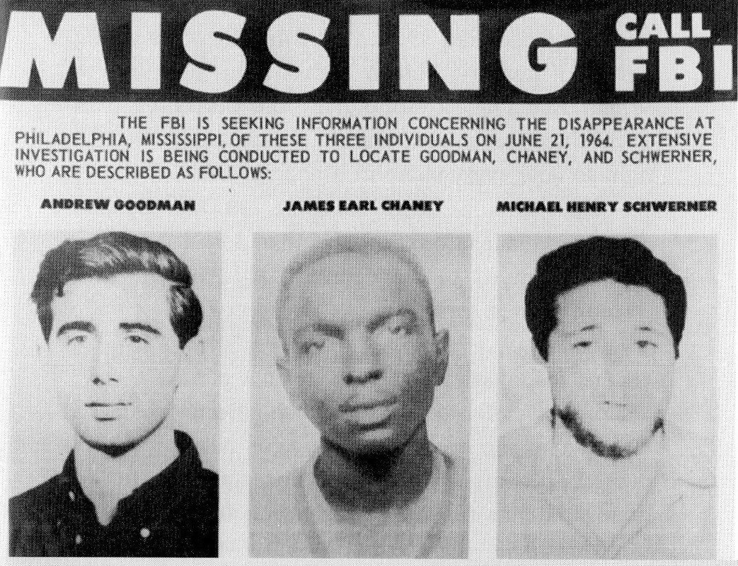 Civil rights heroes Andrew Goodman, James Chaney and Michael Schwerner went missing in Neshoba County, Mississippi, 55 years ago this week: