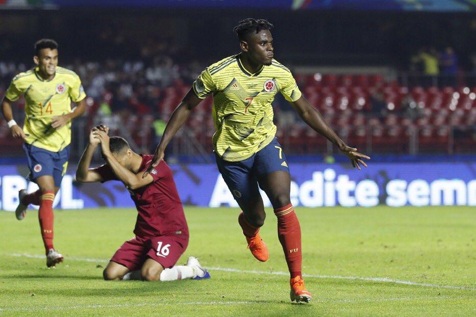 هدف فوز منتخب كولومبيا على منتخب قطر