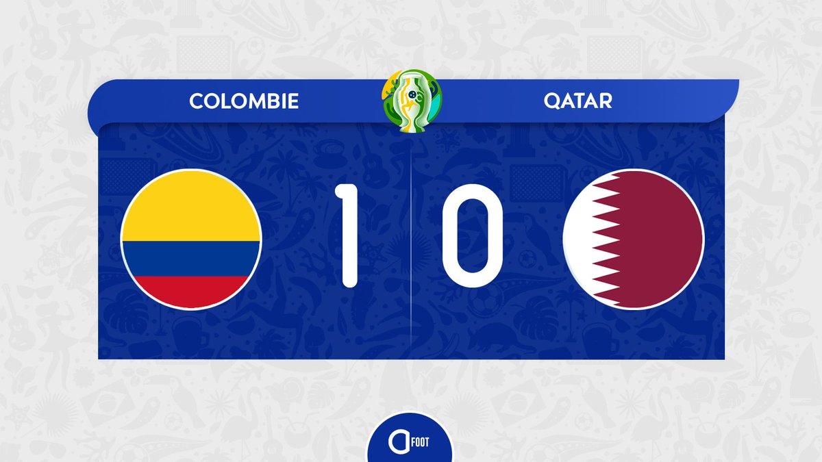 ⏱ TERMINÉ ! COLOMBIE 🇨🇴 1-0 🇶🇦 QATAR La Colombie enchaîne une deuxième victoire consécutive et est dores et déjà assurée de disputer les quarts de finale.