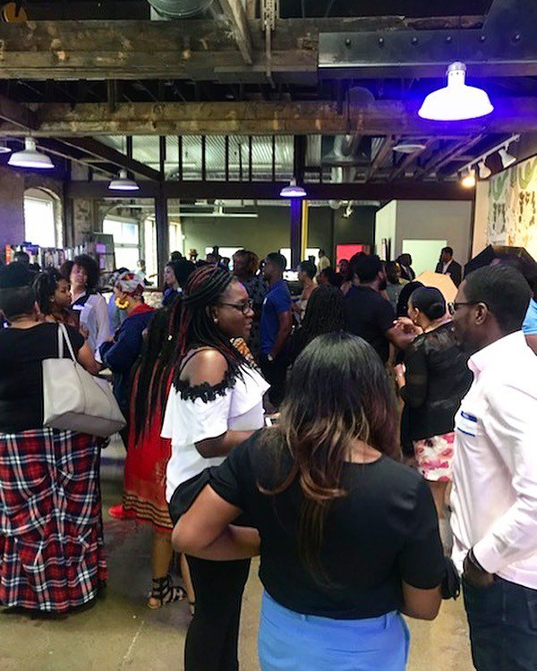 Proud to host the #juneteenthcelebration @junetsocial for their inaugural event, happening now at @tubeartspace. https://t.co/nFqQ1Busw5