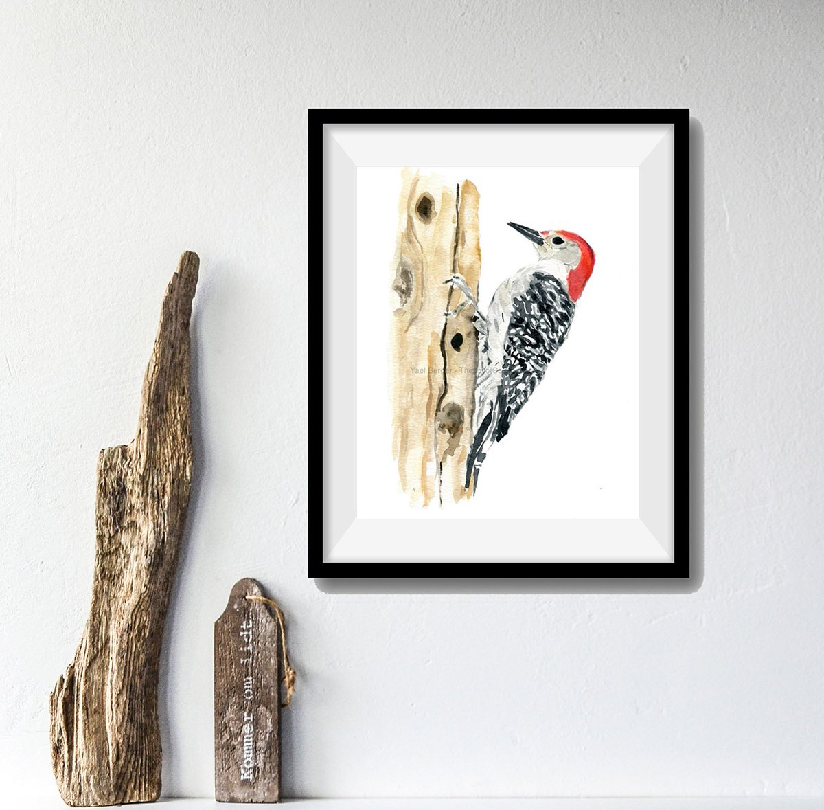 Limited Edition A5 Bird Wildlife Print Wood Pecker Original Watercolour