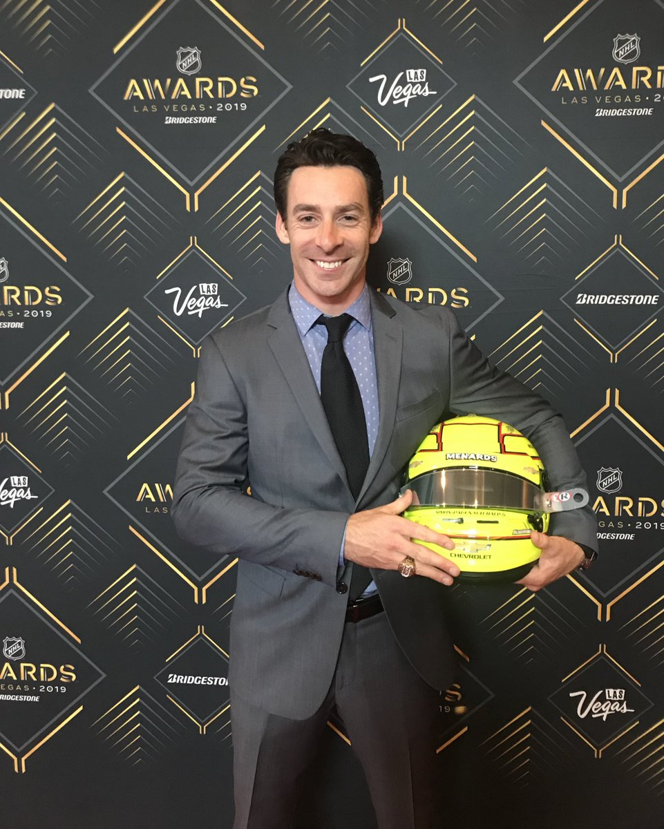 #Indy500 Champ @simonpagenaud is presenting an award tonight at #NHLAwards in Las Vegas!  Watch on @NBCSN starting at 8:00 ET!