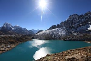 """Himalayan glacier melting doubled since 2000.The accelerating losses indicate a """"devastating"""" future for the region. buff.ly/2ZzAdlj We Hindus have much to offer in addressing the #ClimateEmergency: buff.ly/2ZA3lJu"""