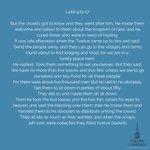 Image for the Tweet beginning: Today's Gospel  Luke 9:11-17  #Jesus #Scripture