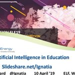 Image for the Tweet beginning: Artificial Intelligence in Education focusing