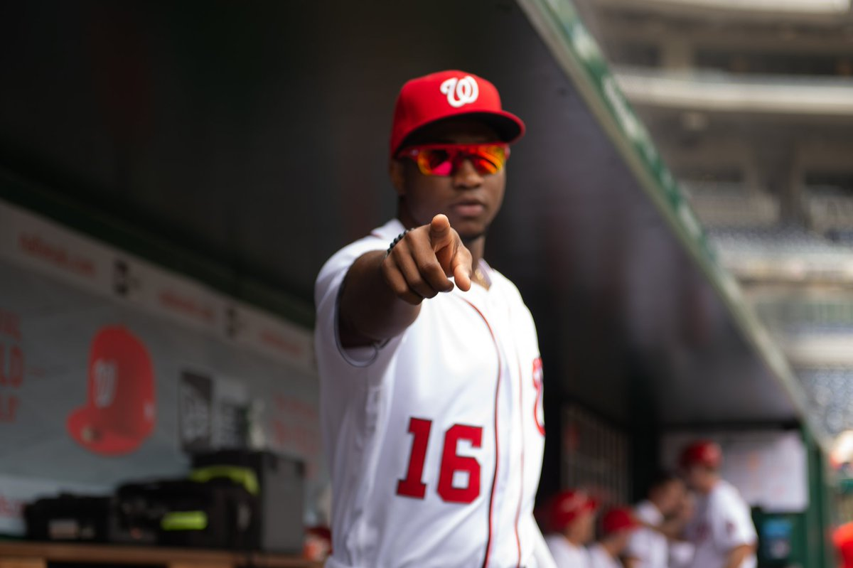 Victor Robles has made 8 starts vs. PHI in 2019.  This is his 9th hit and 3rd HR.  #VoteRobles // http://bit.ly/2WUEcMq