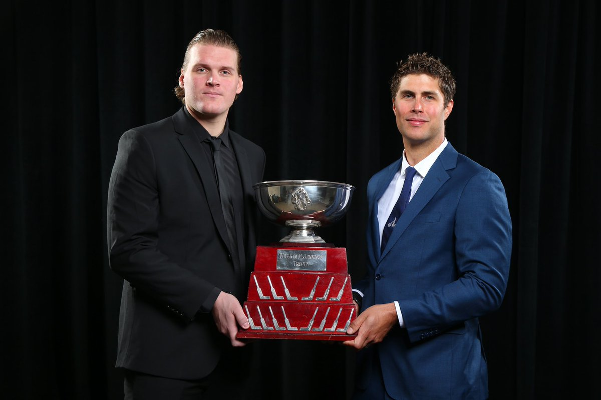 So proud of this duo! 🤩💙 #NHLAwards