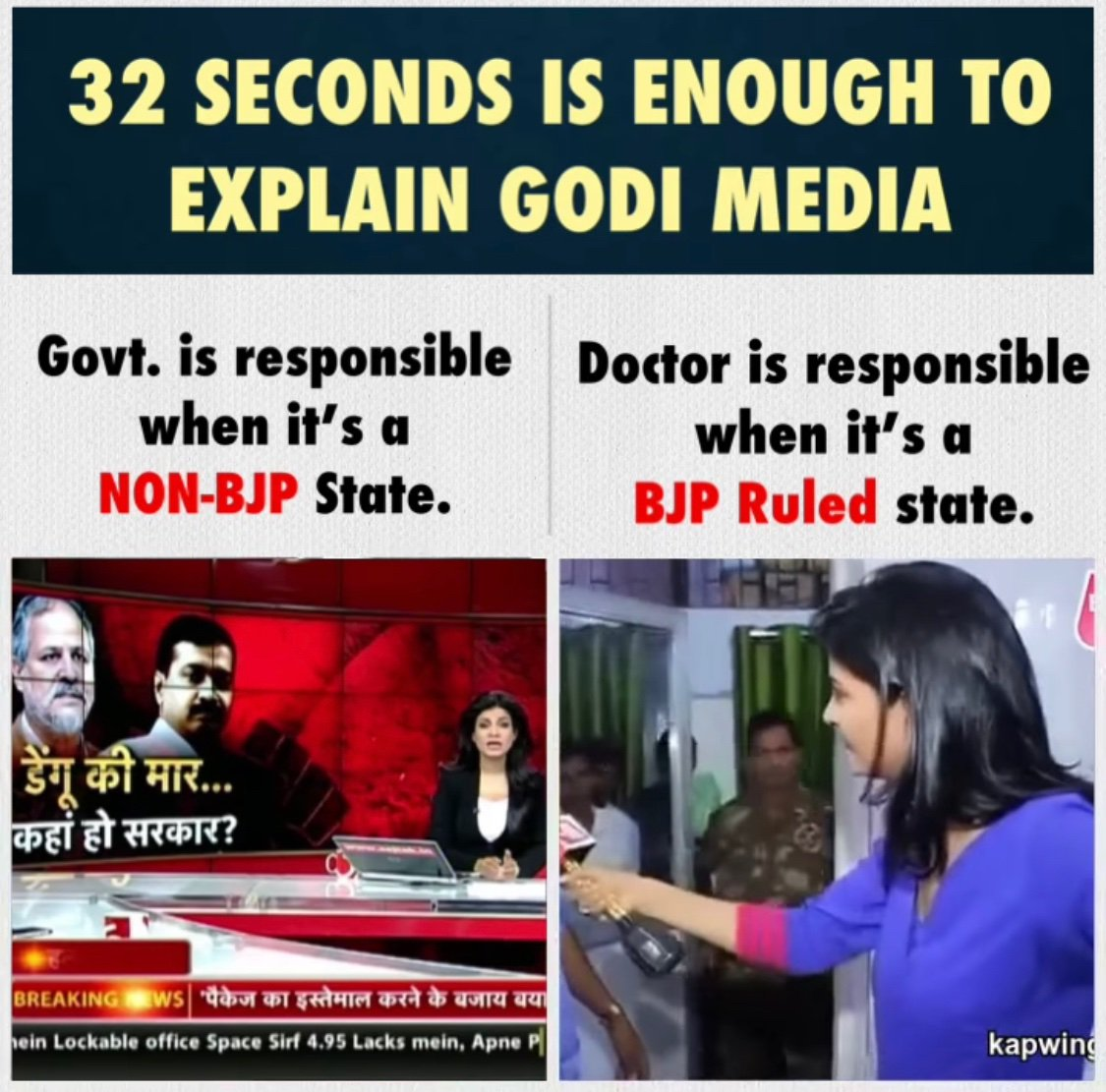 She went to fight  with doctors , sense less lady , let her go and fight with government who doesn't have enough facility and technology, and health care members, she needs a new qualification on journalisms to behave #shameonanjanaomkashyap<br>http://pic.twitter.com/bygGHmocY1