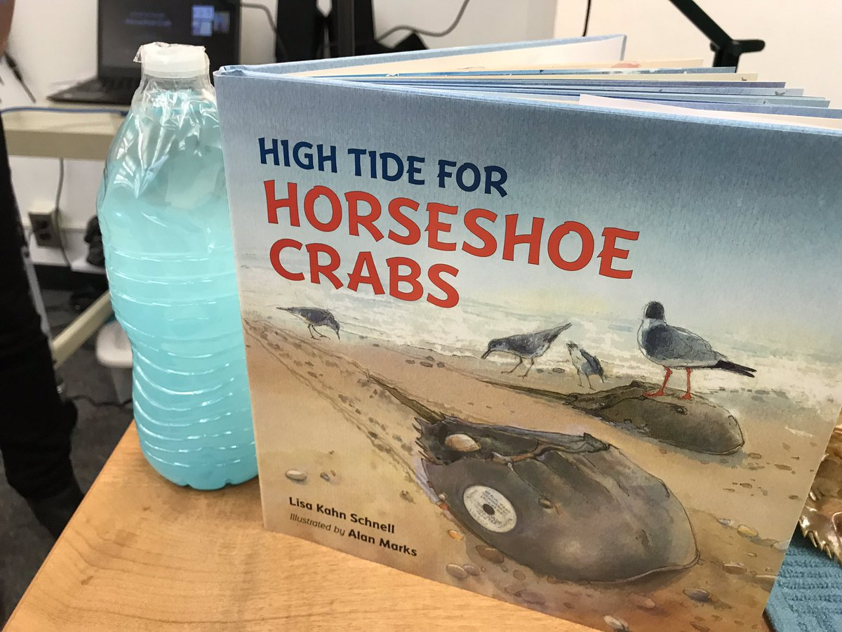 We enjoyed meeting author <a target='_blank' href='http://twitter.com/lisakschnell'>@lisakschnell</a> today and learning about horseshoe crabs! <a target='_blank' href='http://twitter.com/BarrettAPS'>@BarrettAPS</a> <a target='_blank' href='https://t.co/6B2rak9GSm'>https://t.co/6B2rak9GSm</a>