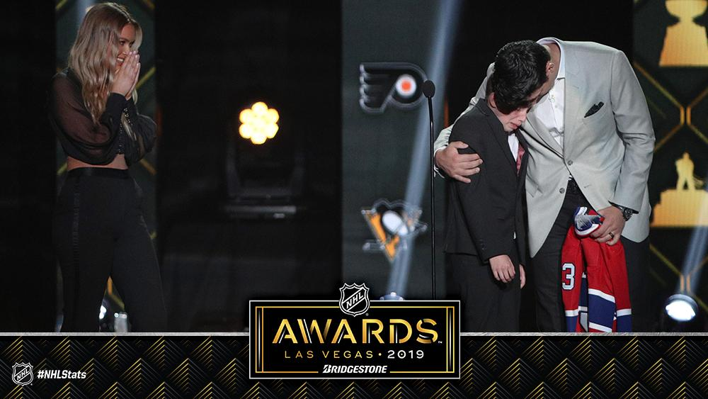 What a moment. #NHLAwards
