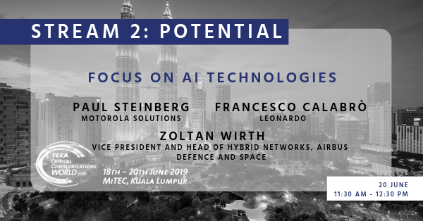 The stream 2 potential session 'focus on AI Technologies' is about to start! See you there! #CCW2019<br>http://pic.twitter.com/0btzw8uME3
