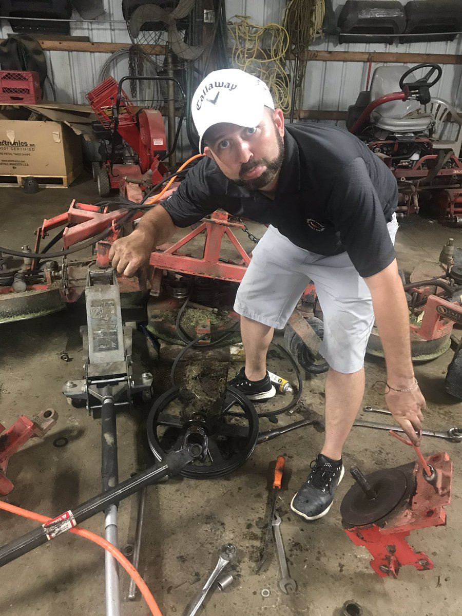 It's never good when the rough mower needs to be torn down to the gearbox on a random Wednesday.  The rain already set us back two days now this..  😳