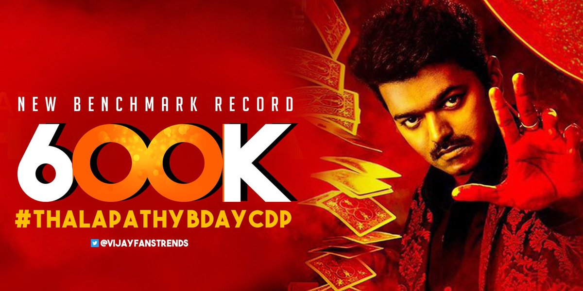 NEW MILESTONE IN KOLLYWOOD TAG HISTORY   #ThalapathyBirthday CDP Tag reached Massive 600K   King of Social Media for a reason #ThalapathyFans   #ThalapathyBDayCDP   @actorvijay @RIAZtheboss<br>http://pic.twitter.com/mk7cwBlWSP