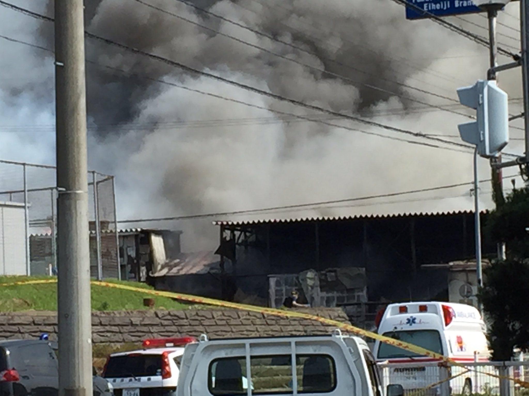 画像,#火災 #福井 #豊島繊維 1~2時間前から燃えています…… https://t.co/8w5qUrjZq8。