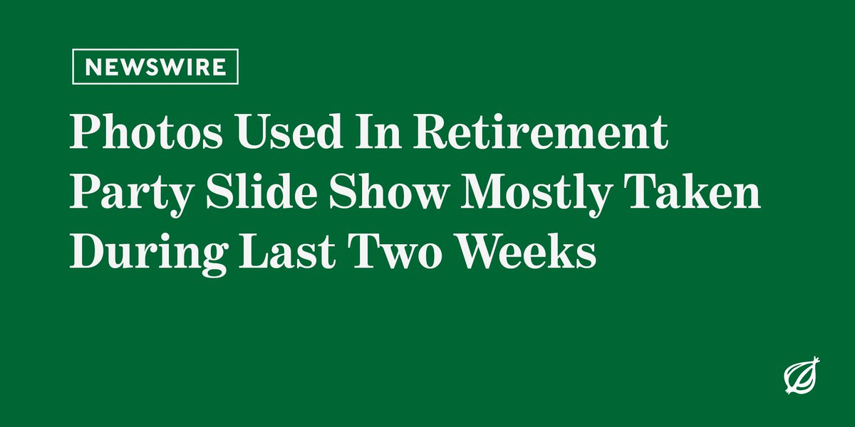 For the latest from the world's most unstoppable media juggernaut, visit http://theonion.com .
