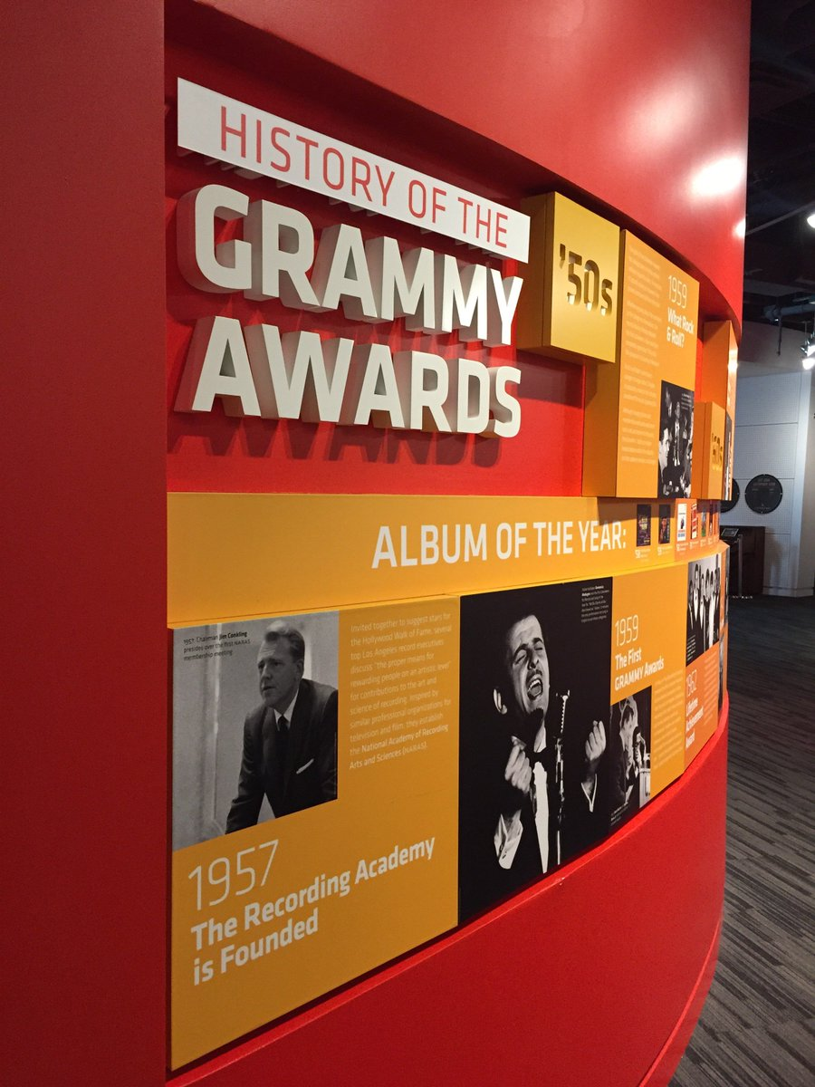"""Tracking all the way back to the 1950's, our """"History of the GRAMMY Awards"""" exhibit revisits some of the most memorable moments in #GRAMMYs history <br>http://pic.twitter.com/ihuX8oJLGL"""