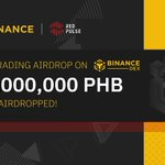 Image for the Tweet beginning: . @red_pulse_china $PHB Trading Airdrop