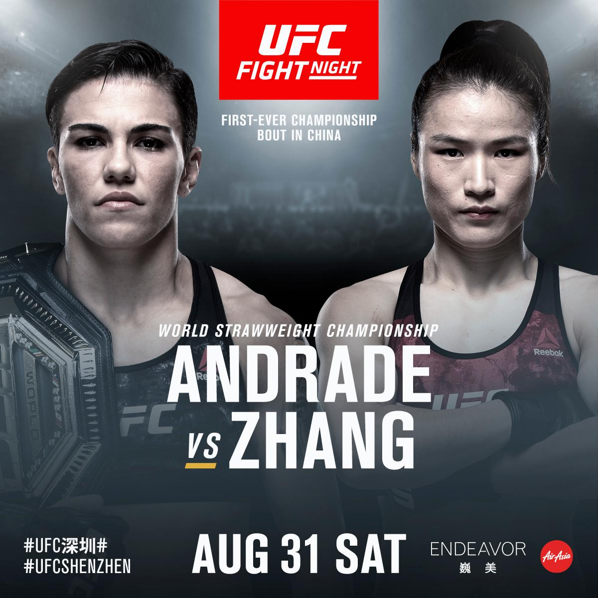 🚨First EVER UFC championship bout on mainland China 🇨🇳 🎟 http://bit.ly/2XoGmn0   #UFCShenzhen