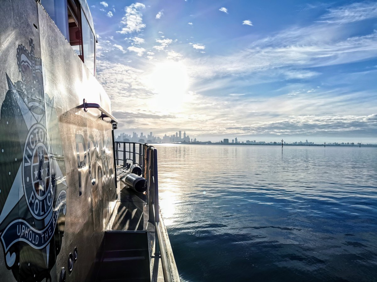 How beautiful does Melbourne look? 😍 The view from the Search and Rescue Squad boat in Port Phillip Bay.