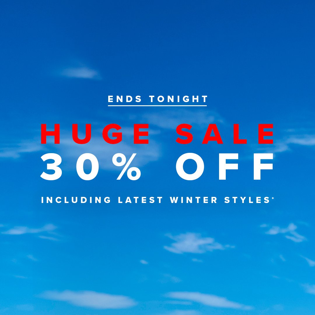 Last chance for 30% OFF*! Shop sell-out styles now!   Shop sale > https://t.co/aC4eFA7vnk  *Ends 11:59PM AEST on 20.06.19. Selected styles and colours listed. Subject to terms and conditions. https://t.co/wjdYQq6JqV