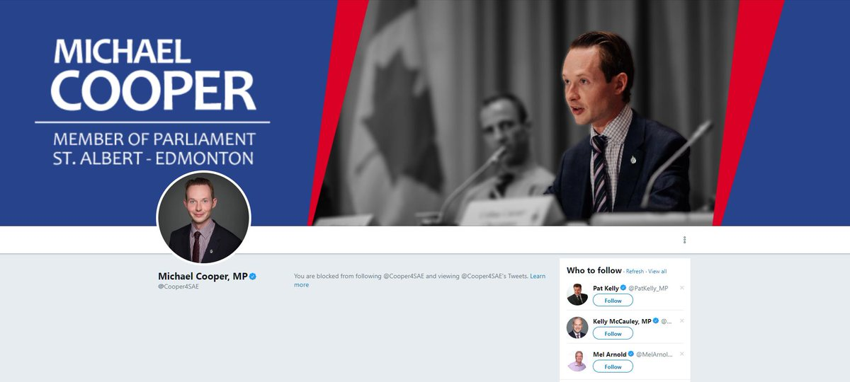 So I just saw @CBCPolitics segment on Michael Cooper saying he might take legal action on those accusing him of making racist comments. He just #CONBLOCKED me. I notified #NewZealand media of his #Christchurch terrorists remarks in cmte. Emails/PhRcrd's to prove.#cdnpoli #Trudeau<br>http://pic.twitter.com/1h2Gsfftwo