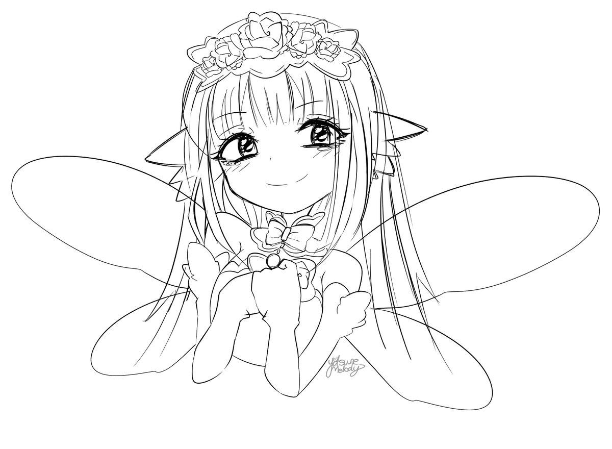 [WIP] Bouquet sketch!! She's so precious 😭💖 #Neptunia