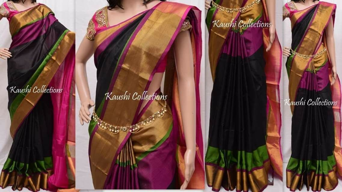 Get exclusive range of designer Uppada Silk Sarees available online at amazing prices from our wide collections!  ✓Shop here : http://bit.ly/2Y2SzLo  ✓COD Available  #linensaree #handloomsaree #summercollection #silksaree #sareeonline #sarees #sareesusa #sareescanada