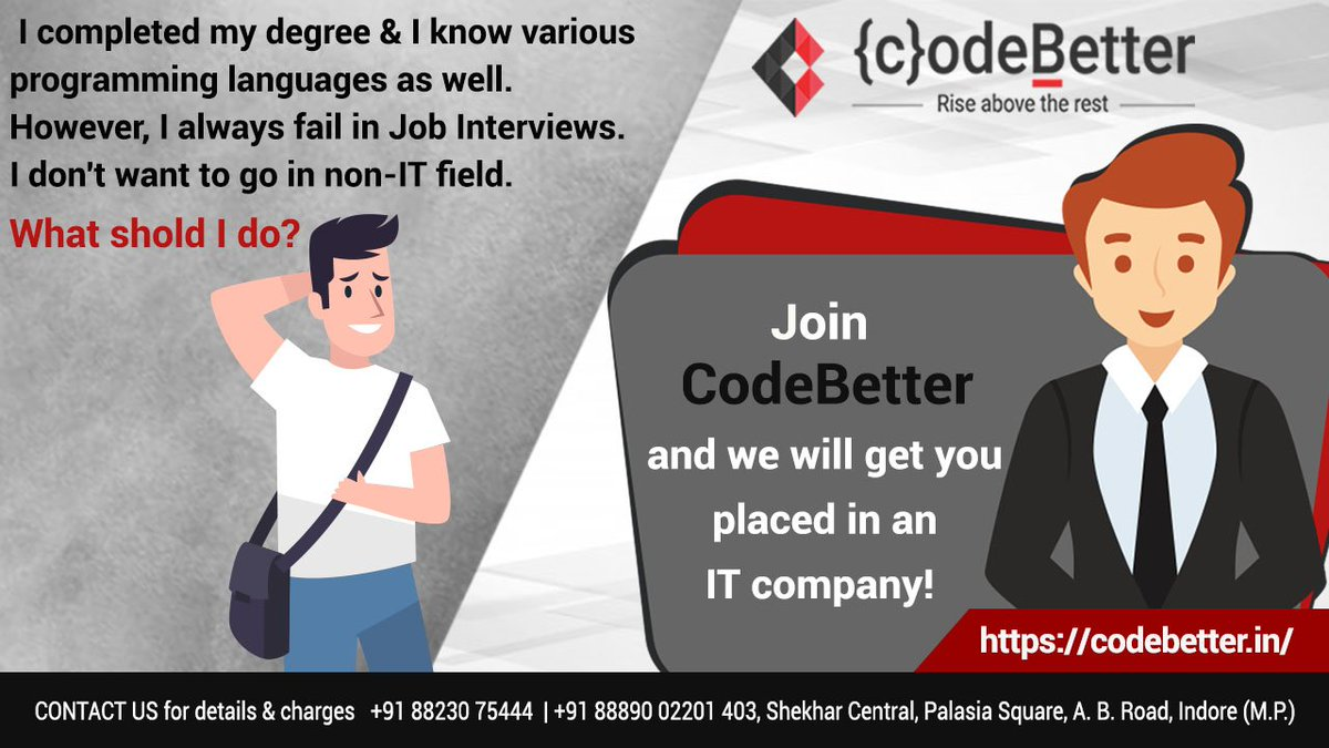 Join CodeBetter and start your IT career! #Internship
