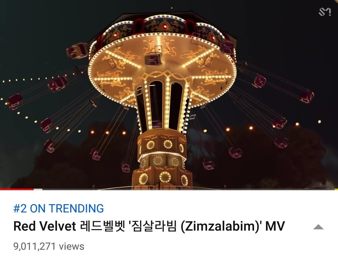 #Zimzalabim reached 9M+ views on YouTube & is now 2nd on PH trending videos.  Keep it up, luvies! We still have less than 4hrs to reach our 10M goal.  🎬https://youtu.be/YBnGBb1wg98  #RedVelvet #레드벨벳 #RVF #TheReVeFestivalDay1 #짐살라빔 #SayZimzalabim @RVsmtown #짐살라빔Zimzalabim
